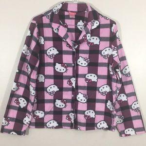 Hello Kitty Pajama Top Size M